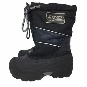 Khombu Kiara Blue Combo Boys Girls Kids Thermal Winter Snow Boots Size 2.5